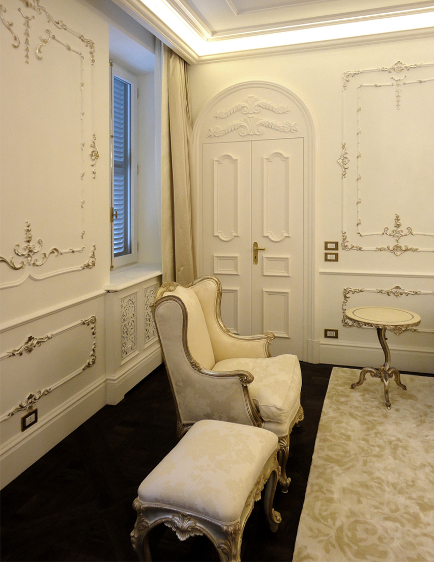Private palace - design by DS London Arch. <br>Piazza Mignanelli, Rome (IT)